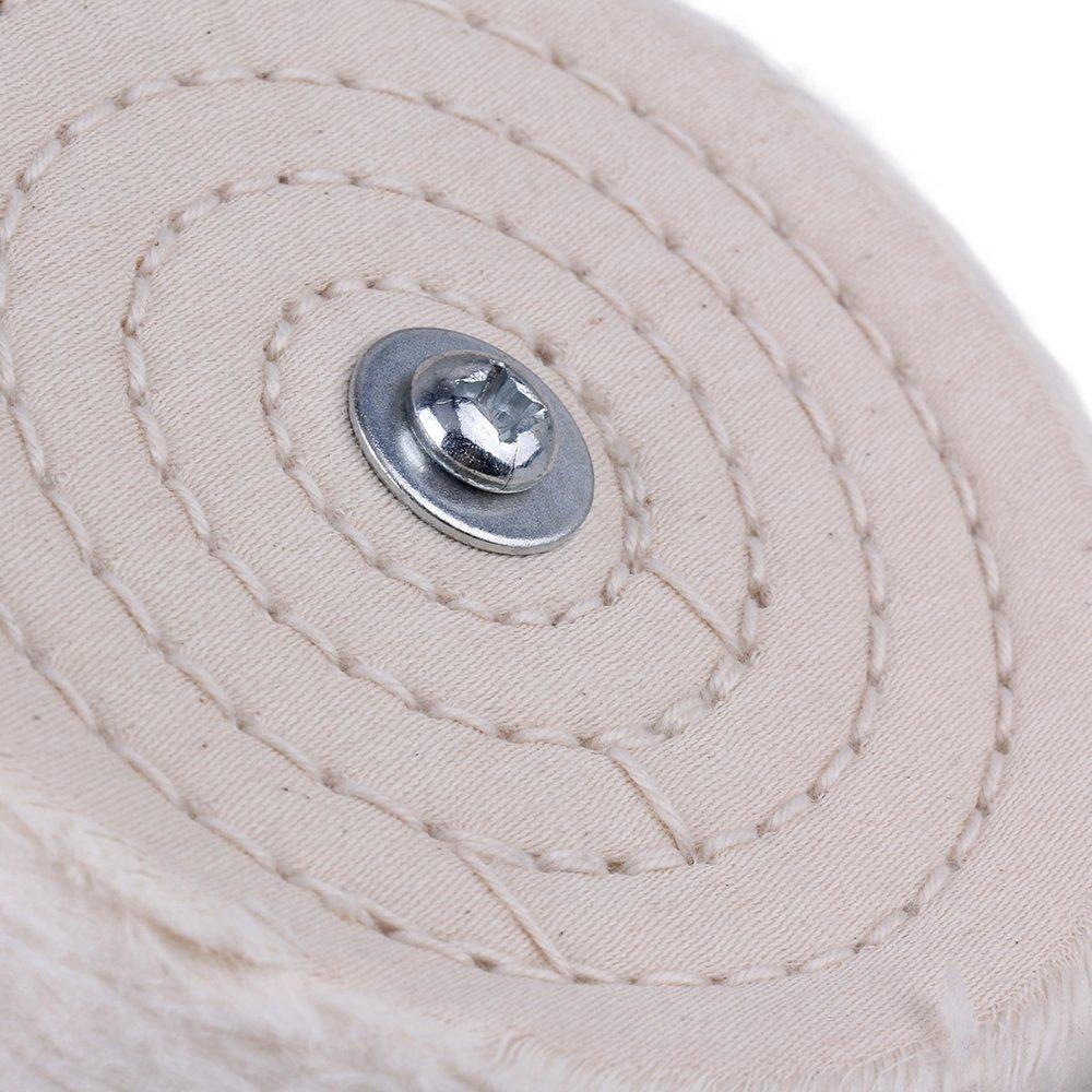 Yibuy T Tipo 100 mm de Di/ámetro Algod/ón Pa/ño Pulido Pulido pulidor Rueda para pulir Amoladora