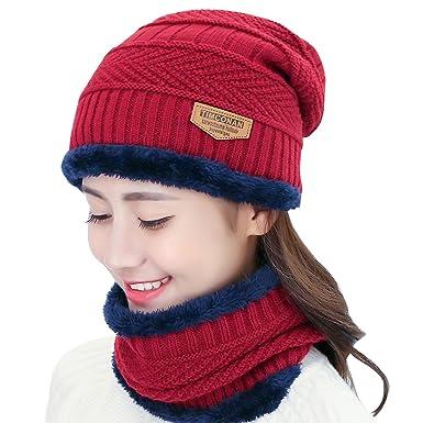 RUNFON Conjunto de Sombrero y Bufanda 39a08385771