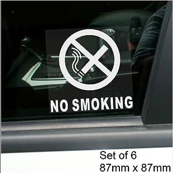 X No SmokingWINDOW Stickers With TextVehicle Self Adhesive - Car window stickers amazon uk