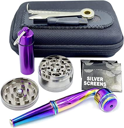 Portable Creative Mini Pipe Detachable Alloy Tool with 10PCS Stainless Steel Screen Fiters