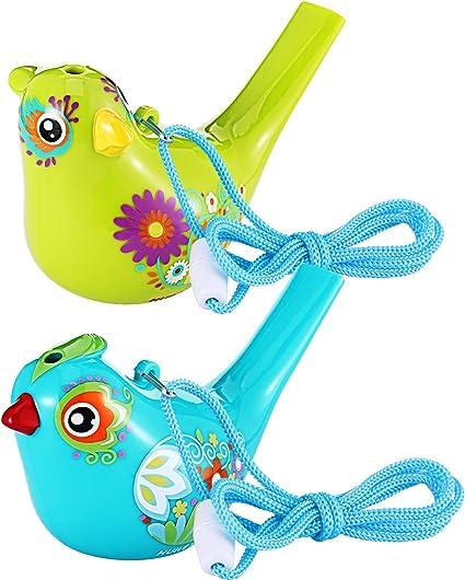 Amazon.com: Silbato de pájaro, colorido silbato de agua para ...