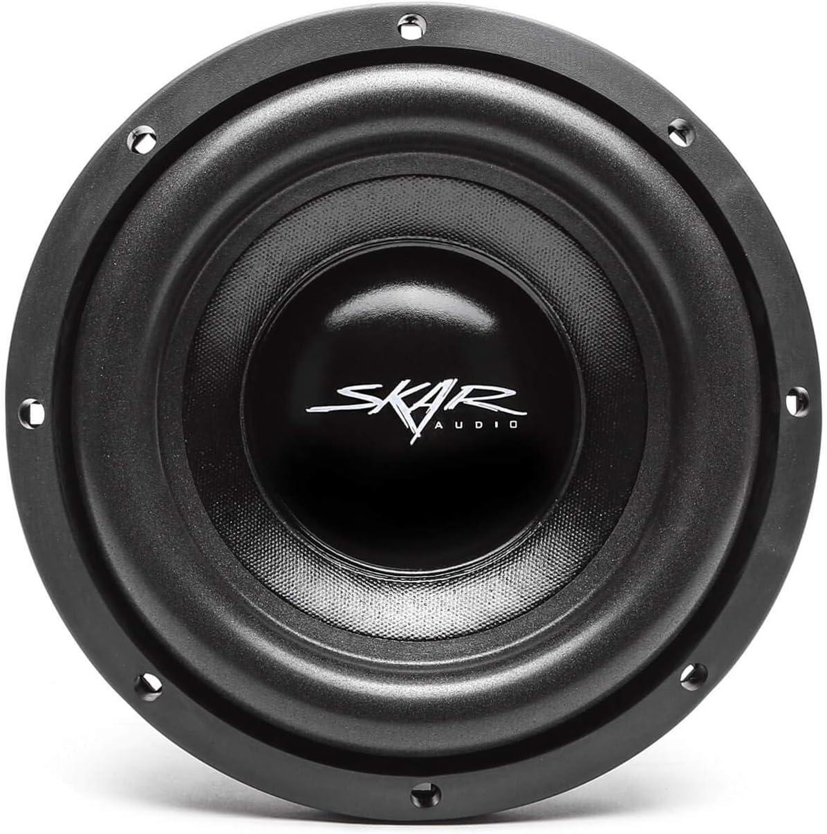Pair of 2 2 Skar Audio IX-8 D4 8 300W Max Power Dual 4 Ohm Car Subwoofers