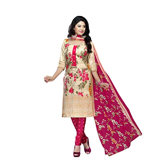 3e18ab7e32 Image Unavailable. Image not available for. Colour: Angelfab Women's Cotton  Salwar Suit (Multicolor_Free Size)