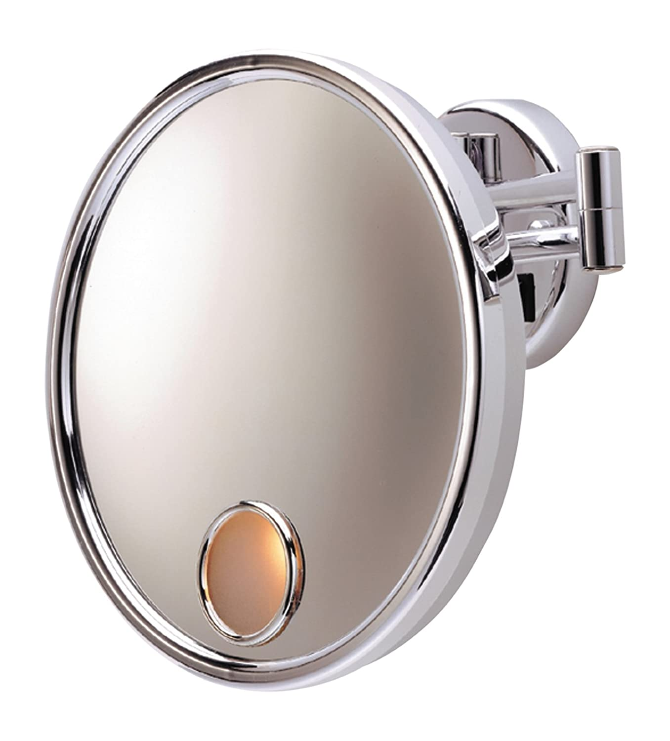 Amazon jerdon jd8c 3x magnification euro lighted wall mount amazon jerdon jd8c 3x magnification euro lighted wall mount mirror direct wire chrome home kitchen amipublicfo Image collections