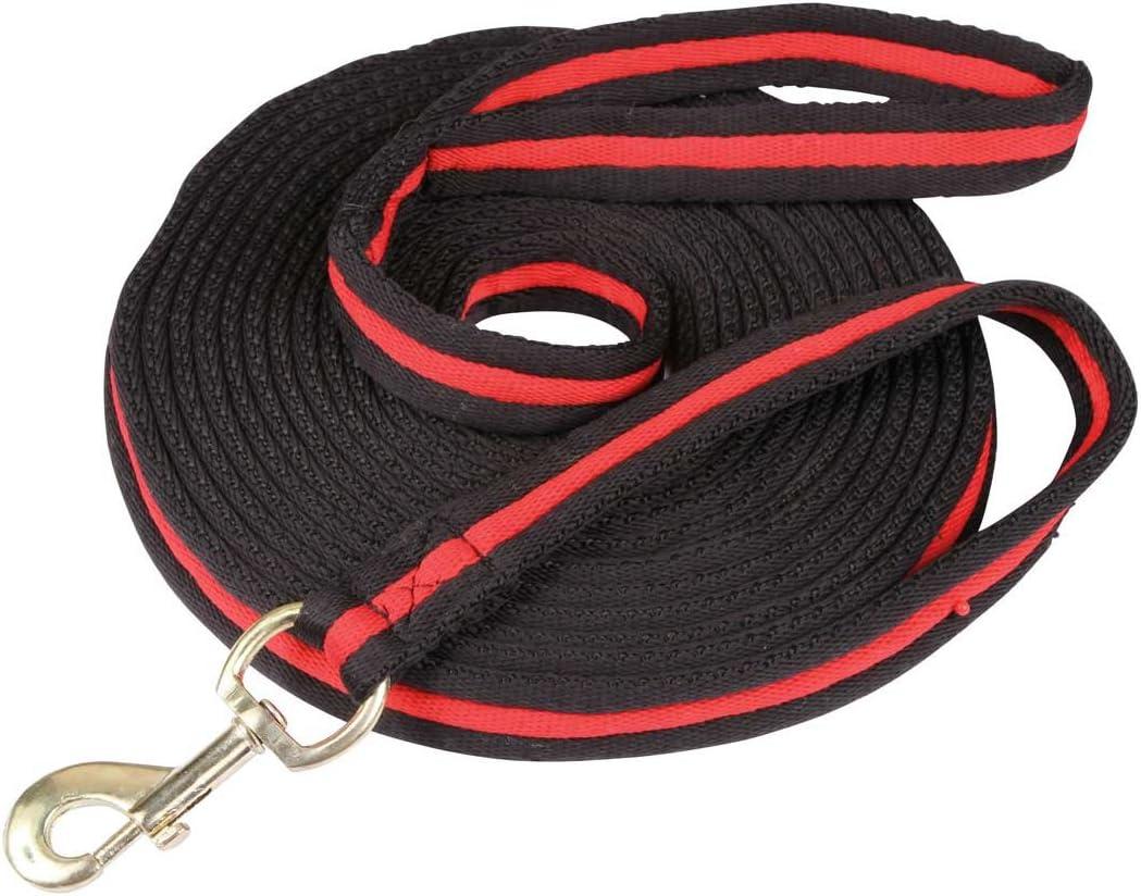 Kerbl Correa Soft 8 m, Negro/Rojo