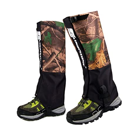 aa41621ded784 UNISTRENGH Outdoor Waterproof High Leg Gaiters Wear-Resistant Camouflage  Snow Mountain Hiking Boot Gaiters Insect-Proof Protection Set Foot Leg  Sleeve ...