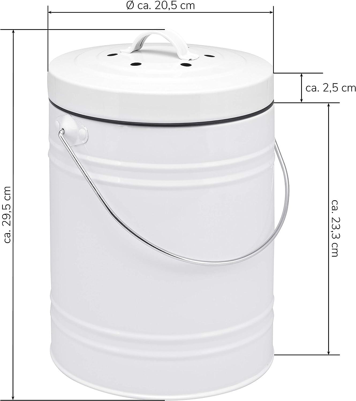bremermann Aktivkohlefilter f/ür Komposteimer 4er-Set