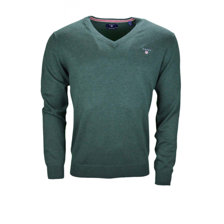 Gant Cotton Wool V-Neck Maglia Uomo