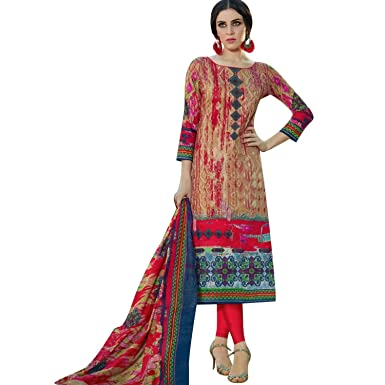 286f8a687f Readymade Cotton Printed Salwar Kameez Indian Dress Ready to Wear Pakistani  Salwar Suit at Amazon Women's Clothing store: