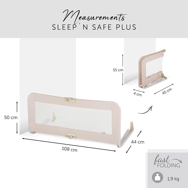 beige pooh ready to play enfants et adults // longueur de 108 cm et hauteur de 44 cm // pliable // pliace compact Hauck // Barri/ère de Lit Sleep N Safe Plus Disney // pour b/éb/és