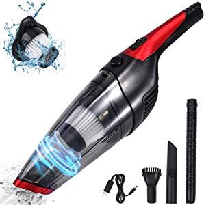 Fityou Handheld Vacuum Cleaner Cordless, Rechargeable(USB Charge), Powerful Suction Cleaner, Portable Hand Vacuum for Pet Hair Home and Car Cleaning, Wet & Dry