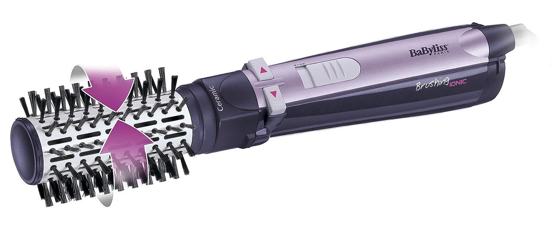 BaByliss AS551E - Cepillo rotativo de aire, iónico, 800 W, cepillo cerámico de 50 mm y cepillo de cerdas de jabalí de 35 mm, seca, desenreda y moldea