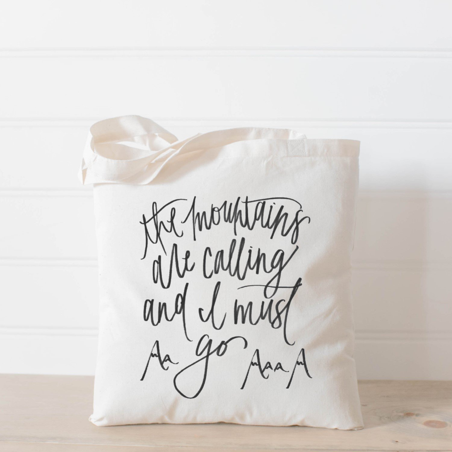 Tote Bag, The Mountains Are Calling, Handmade in the USA, present, housewarming gift, wedding favor, bridesmaid gift, women's gift