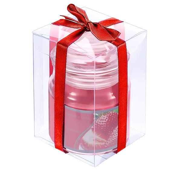 Velas Perfumadas de Tarro Pequeño para Decoración de Hogar de Hora de Té Fiesta Boda SPA Regalos (Fresa Roja): Amazon.es: Hogar