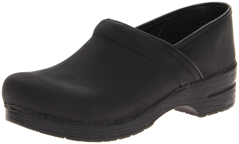 Black Oiled Dansko Women's Professional Box Leather Clog