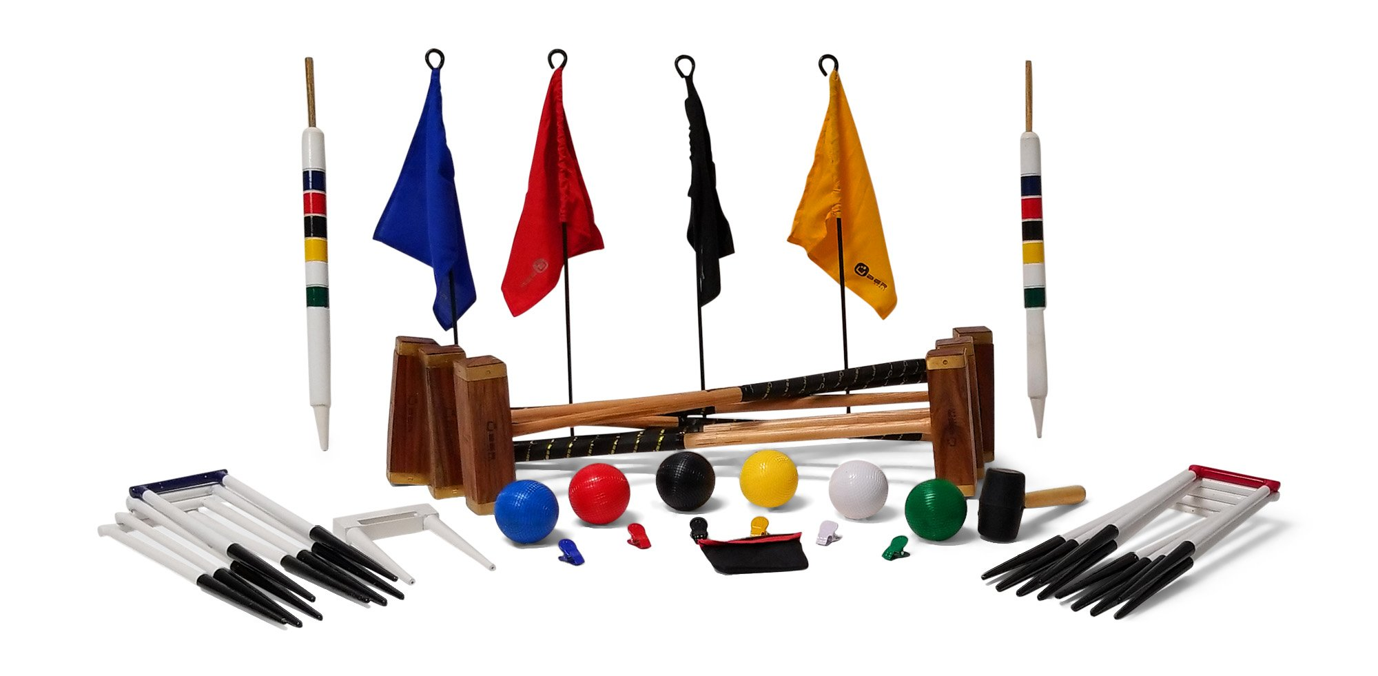Uber Games 9 Wicket Croquet Set - Championship - 6 Player