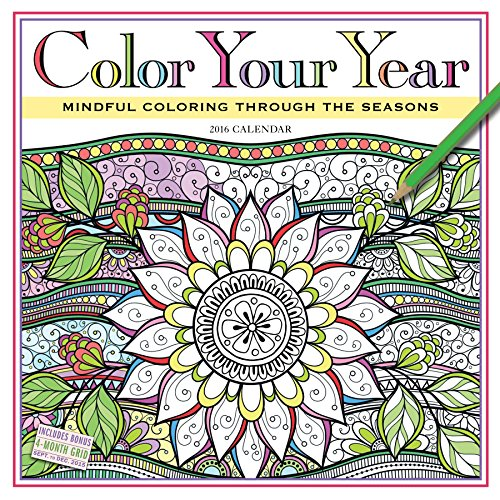 Year Calendar Seasons : Color your year wall calendar mindful coloring