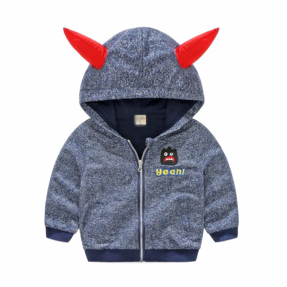 Boys Zip up Hoodie Jacket Cotton Demon Jacket