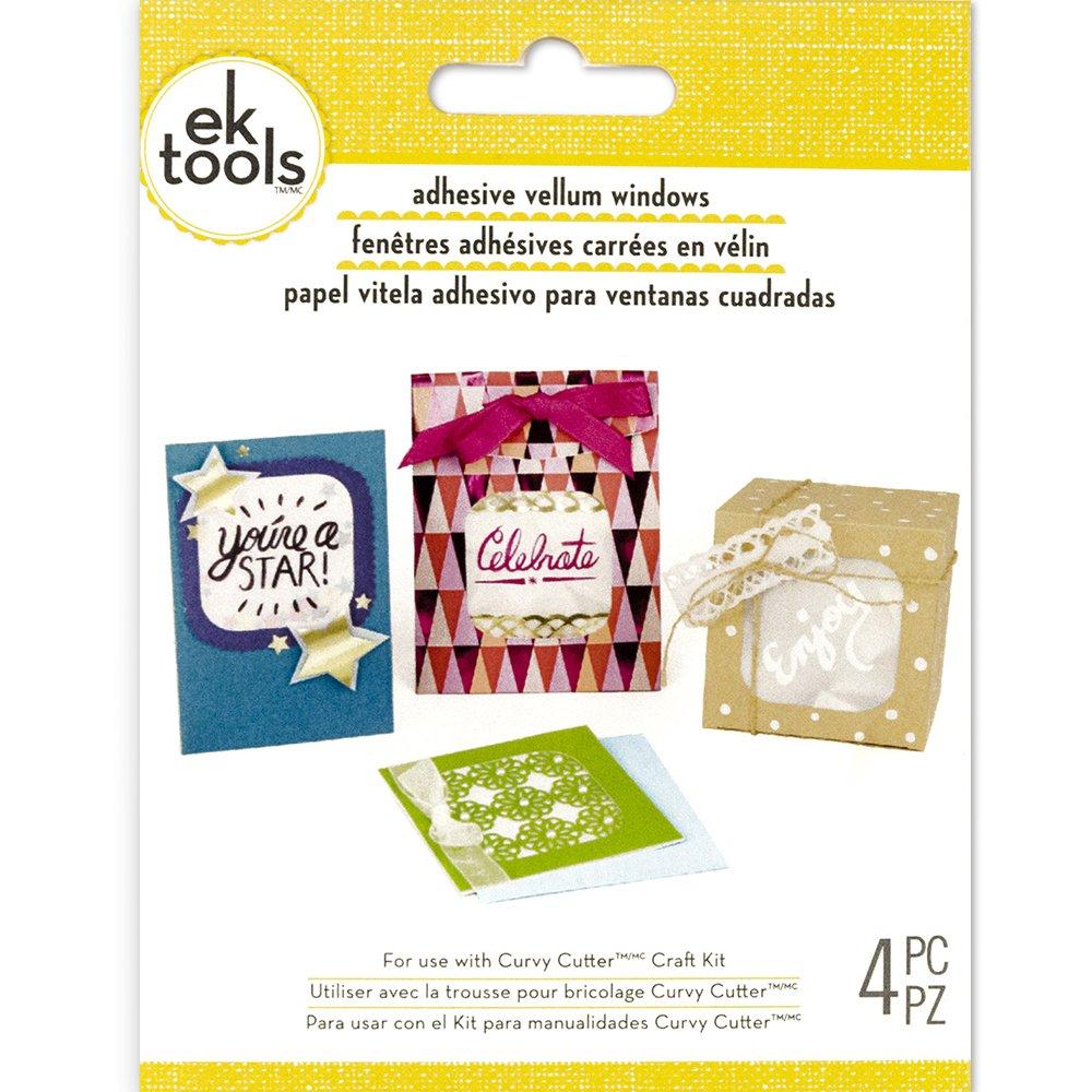 EK Tools Ventanas de pergamino cuadrado adhesivo