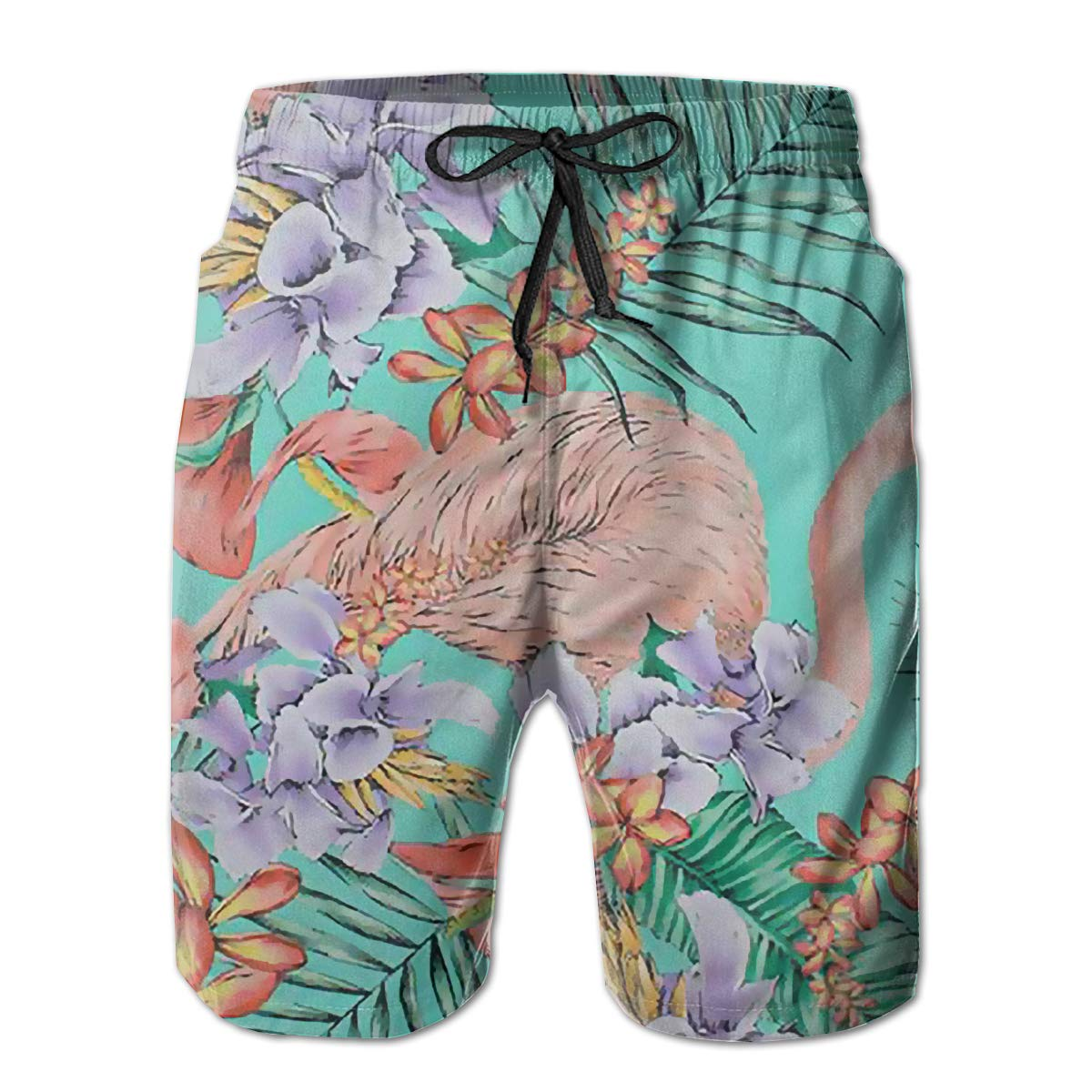 BE6h Mens Summer Surf Board Shorts Quick Dry Pants with Pockets for Young Man