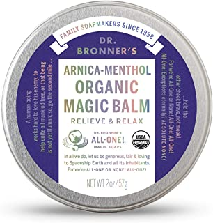 product image for Dr. Bronner's - Organic Magic Balm (2 Ounce) - Made with Organic Beeswax and Organic Hemp Oil, Relieves and Relaxes Sore Muscles and Achy Joints, Moisturizes and Soothes Dry Skin (Arnica-Menthol)