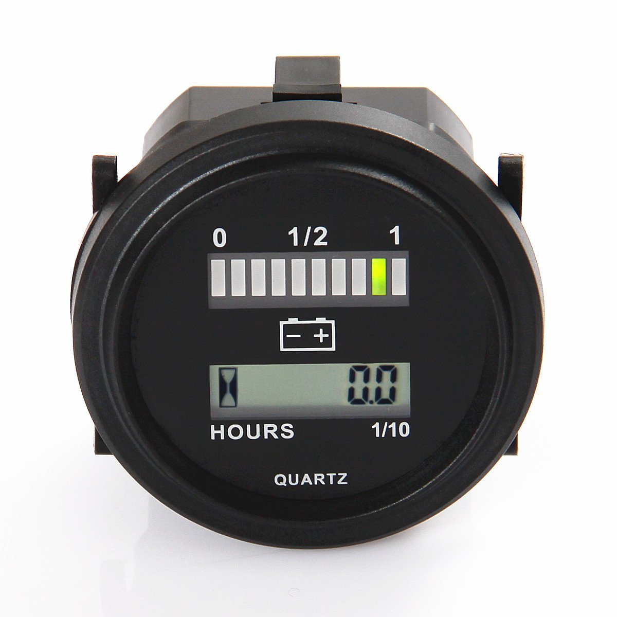 Searon LED 12V 24V 36V 48V 72V Digital Battery Indicator Status Charge Indicator with Hour Meter Gauge