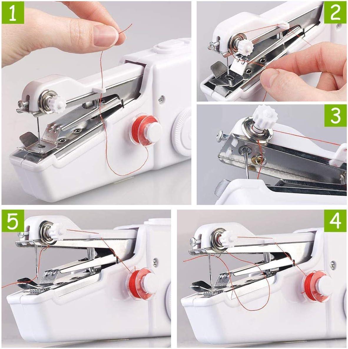 Mini máquina de coser portátil manual herramienta de punto rápido ...