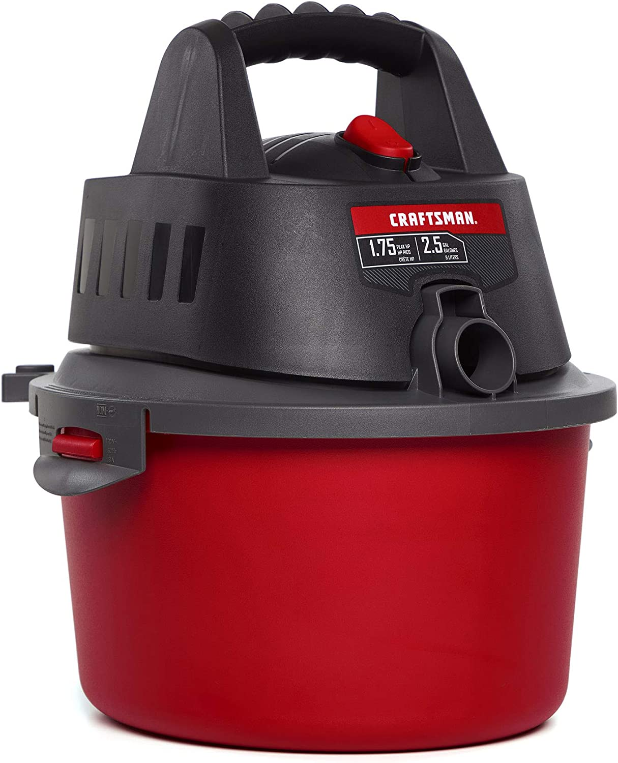 CRAFTSMAN CMXEVBE17250 2.5 gallon 1.75 Peak Hp Wet Dry Vac, Portable Shop Vacuum with Attachments