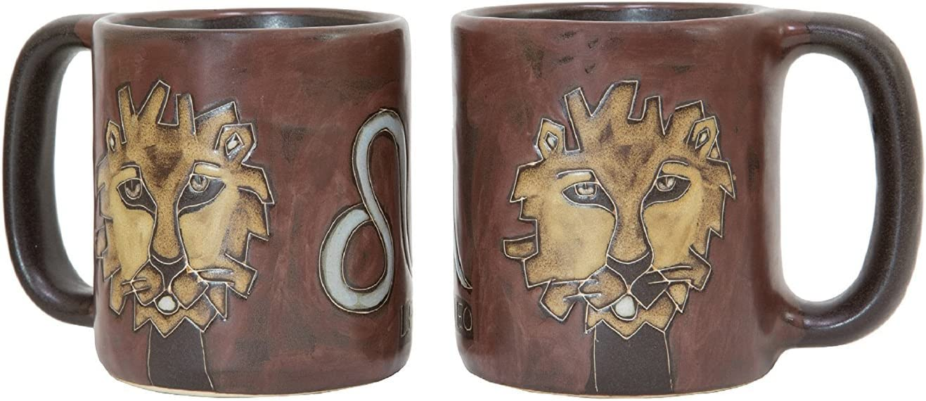 Leo The Lion Design SYNCHKG021281 16 Oz Coffee Cup Collectible Dinner Mug 1 Zodiac Sign MARA STONEWARE COLLECTION One