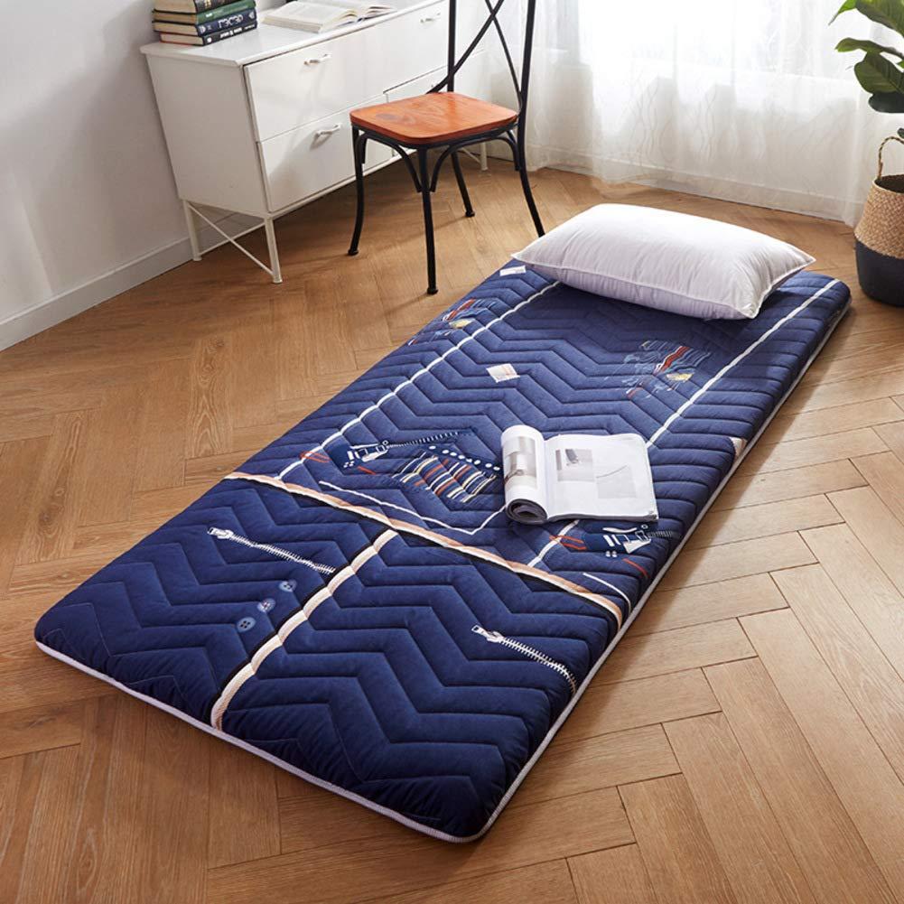 厚め ベッドパッド, 折りたたみ 滑り止め マットレス パッド 布団畳 学生 寮 マットレスをロールアップします。-b B07S191D64