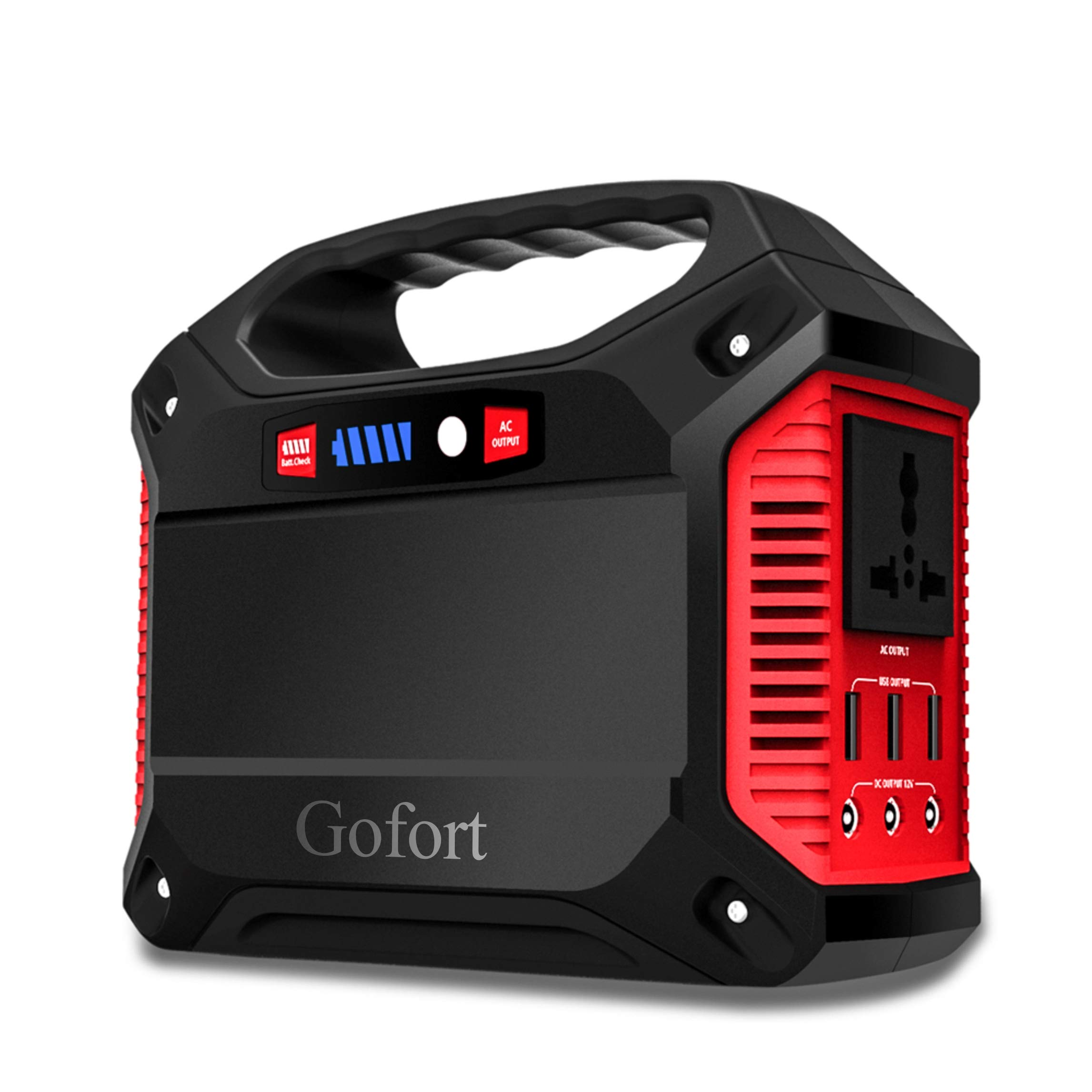 GOFORT Portable Power Solar Generator Power Inverter 42000mAh 155Wh Rechargeable Battery Pack Emergency