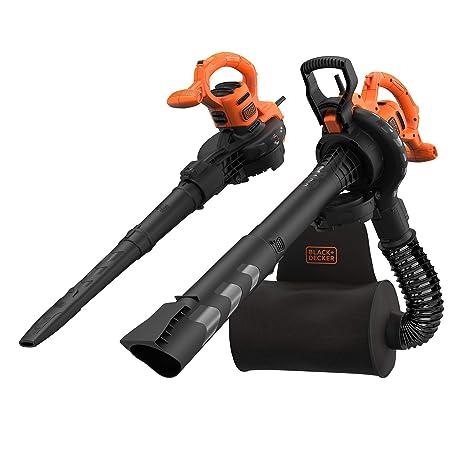 BLACK+DECKER BEBLV290-QS - Soplador, aspirador y triturador de hojas 2.900W, velocidad variable de 230-390 Km/h