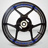 Gloss Blue Motorcycle Inner Rim Tape Sticker Decal