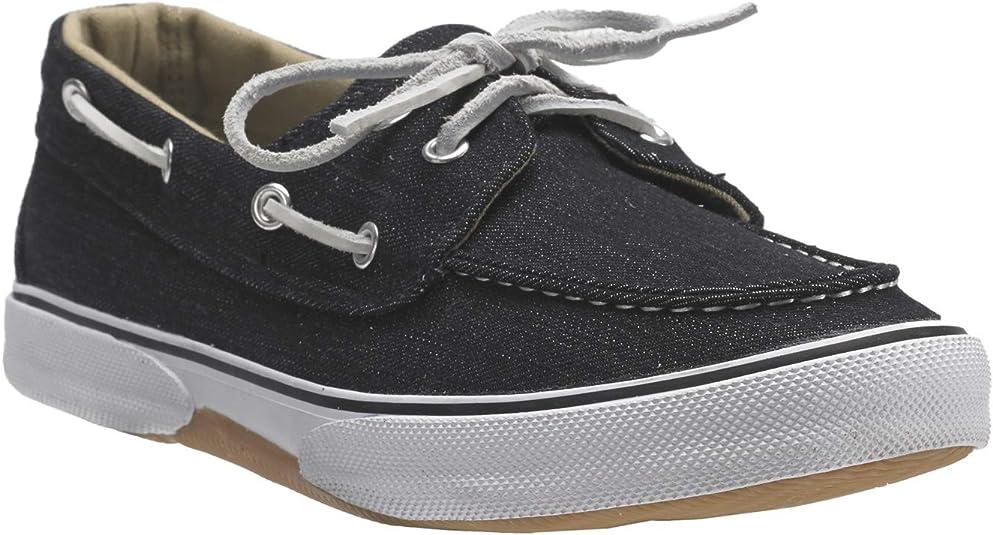 Wide Width Canvas Velcro Boat Shoe