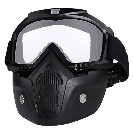 Amazon.com: Gafas para casco de motocicleta con máscara de ...