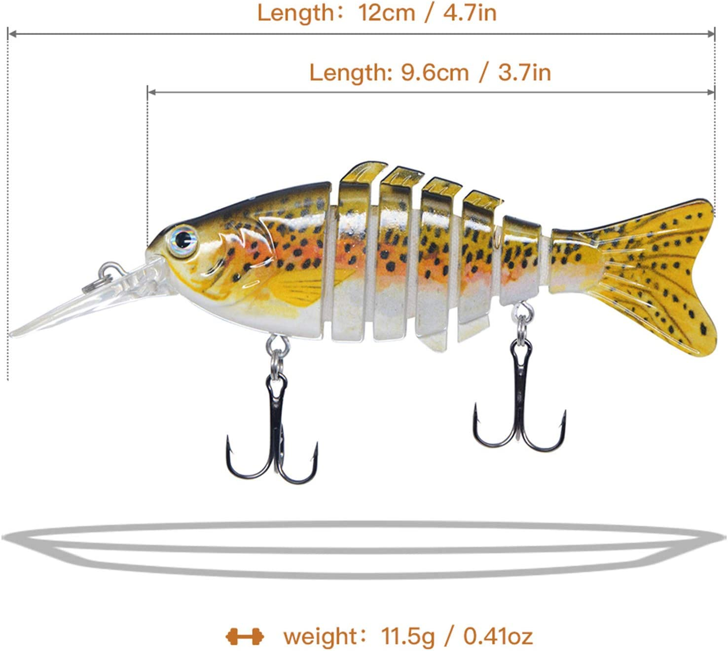 Rose Kuli Fishing Lures Lifelike Bass Lures Multi Jointed Swimbaits Slow Sinking Hard Bait Fishing Tackle Kits