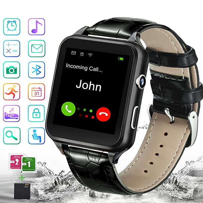 Smart Watch,Bluetooth Smartwatch Touchscreen with Camera, Smart Watches Waterproof Smart Wrist Watch Phone Compatible Android for Men Women Kids