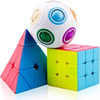 SPLAKS Rubiks Cube, Magic Cube Smooth Speed Magic Cube Puzzle and Easy Turning ,Super Durable with Vivid Colors for Brain Training Game (Magic Cube Set)