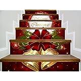 階段自己粘着性の壁紙クリスマスの家の装飾3D取り外し可能なDIYの立体的なステッカーモダンな防水階段の壁紙は、3つを無料で1つを購入する
