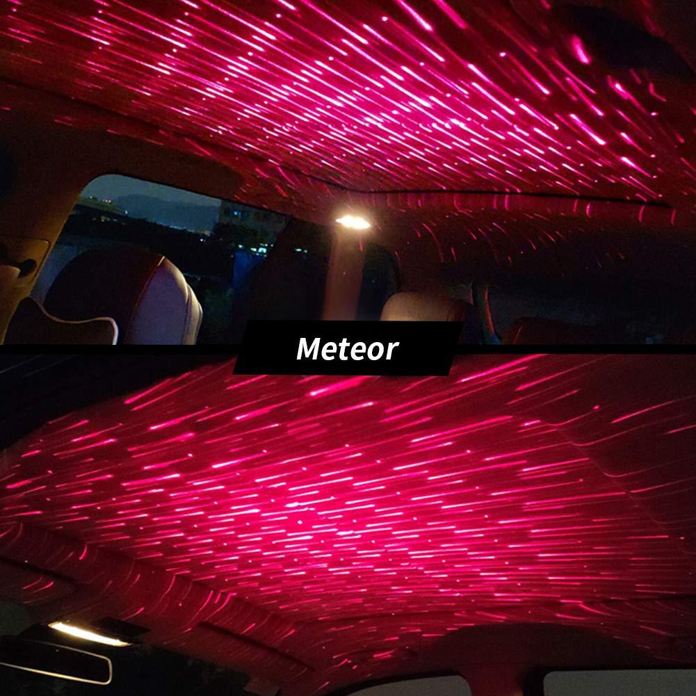 PoeHXtyy Luci per Interni Auto Luci per proiettori a Stella USB Luci romantiche per Tetto Automatico Luci notturne Luci ambientali