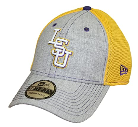 821dc0f589a Image Unavailable. Image not available for. Color  LSU Tigers New Era NCAA  39THIRTY  quot Heathered Gray Neo 2 quot  Flex Fit Hat