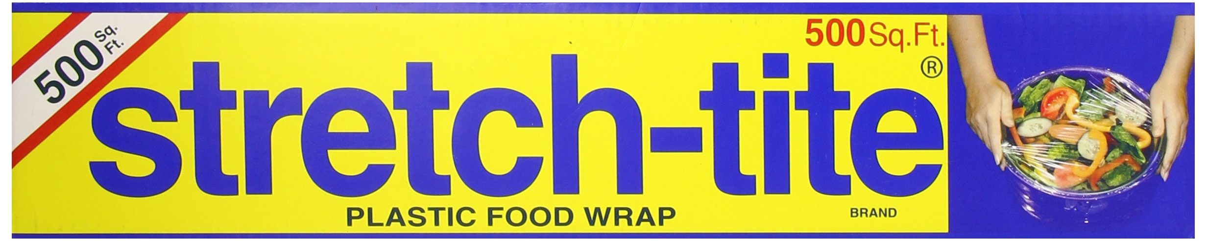Stretch-Tite Premium Plastic Food Wrap, 500 Sq. Ft., 516.12-Ft. x 11.5/8-Inch
