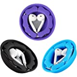 Earbuds Earphones Holder Case 3 Pack, MAIRUI Silicone Magnetic Earphones Cord Organizer Headphones Storage Case Tangle-Free Earbuds Wrap Cable Winder for Apple iPhone/Samsung/Sony Earphones(3 Pack)