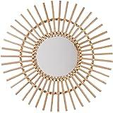 A.B.M. SARL Specchio in rattan diametro 58cm Sole