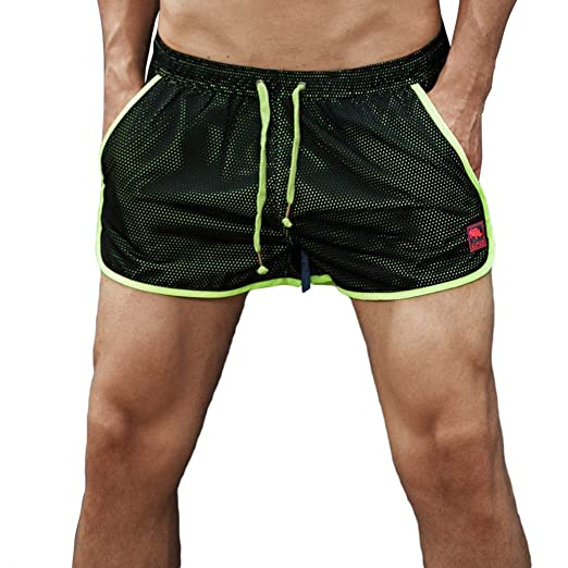a00d1c96500fb Seaintheson Men's Shorts, Mens Quick Dry Swim Trunks Solid Sportwear  Drawstring Beach Surfing Running Board