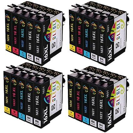 GLEGLE 16XL Cartuchos Tinta 20 Multipack Reemplazo para Compatible ...