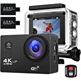 Action Camera 4K 16MP Sports Cam - BUIEJDOG HD WiFi Waterproof Action Camcorder with 170°Wide Angle Lens 2 Rechargeable Batteries Remote Control and 18 Mounting Accessories Kits