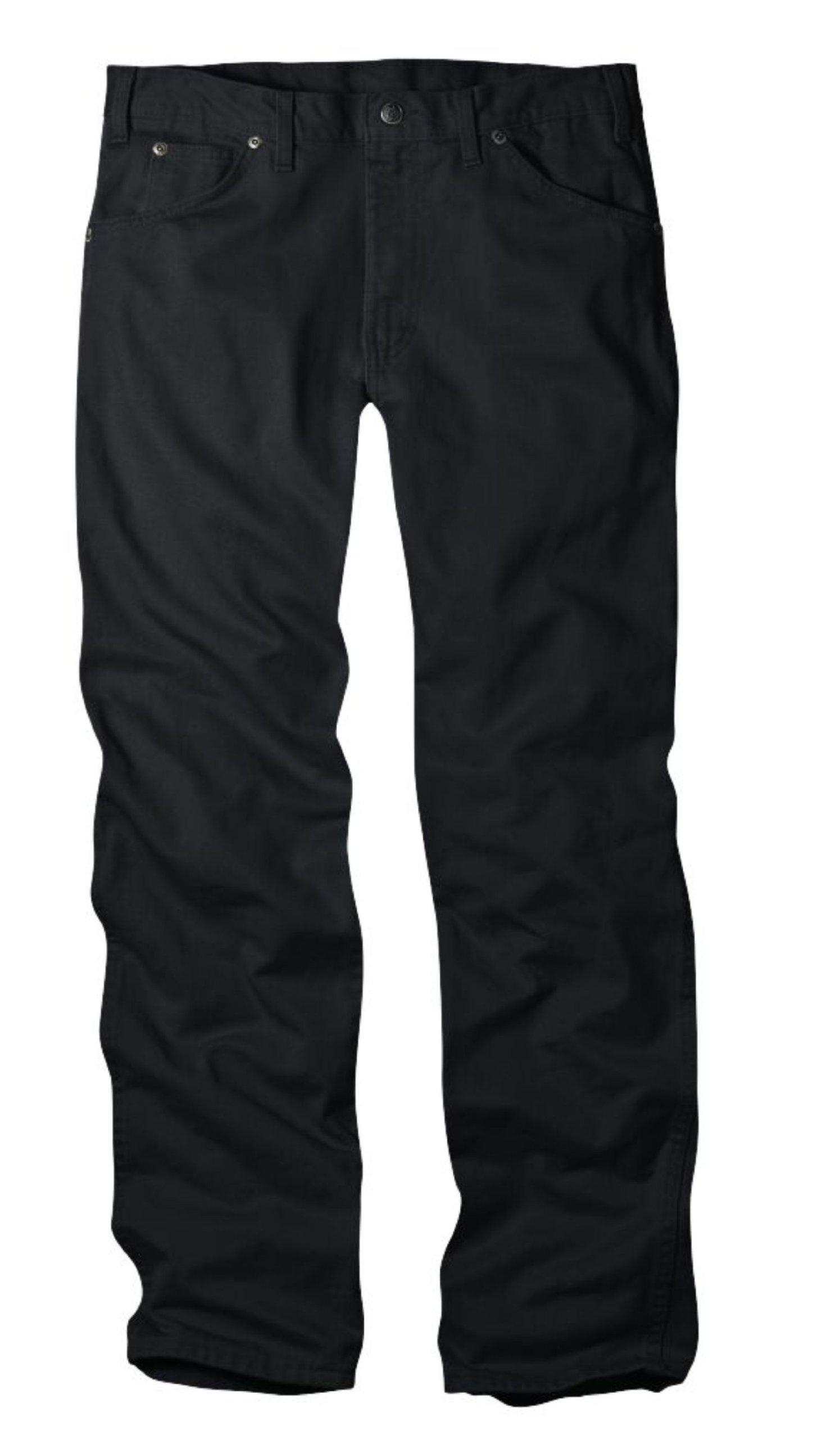 Dickies Men's Regular Fit 5-Pocket Prewashed Jean, Overdyed Black, 33x30
