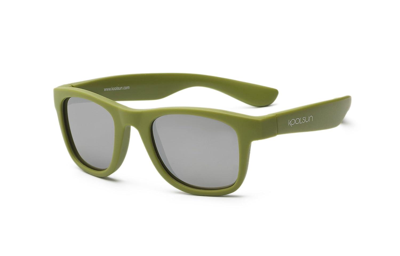 Koolsun Baby e occhiali da sole per bambini Wave Fashion 1+ | Army Green specchiate | 100% protezione UV | Optical Clas 1, Cat. 3 WAOB001