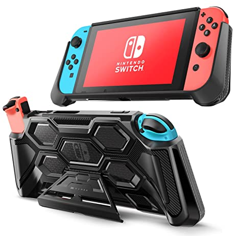 Mumba Protective Case for Nintendo Switch, [Battle Series] Heavy Duty Grip Cover for Nintendo Switch Console with Comfort Padded Hand Grips and ...